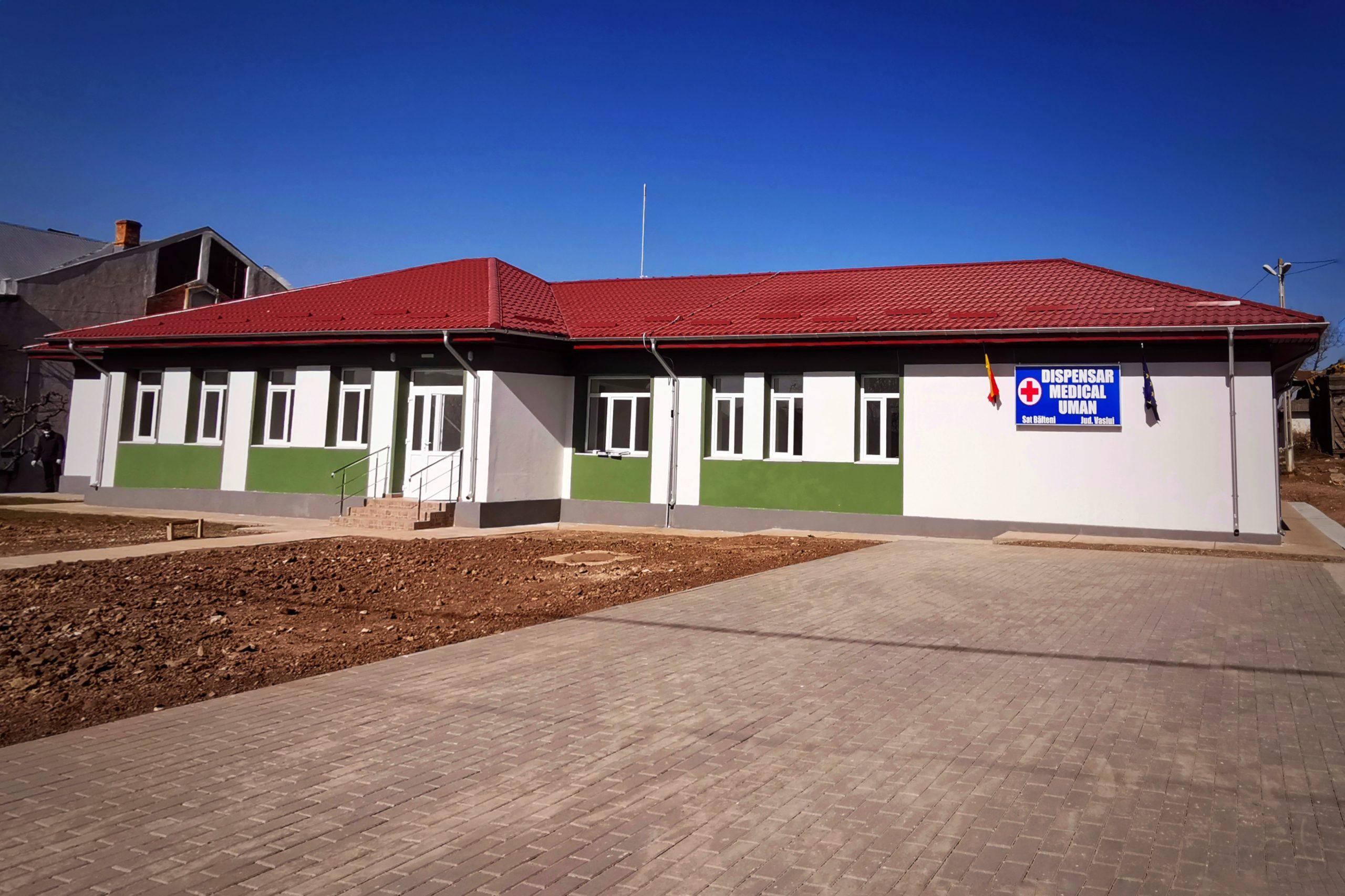 Dispensar medical reabilitat și modernizat după 100 de ani de la construire, în comuna Bălteni, județul Vaslui